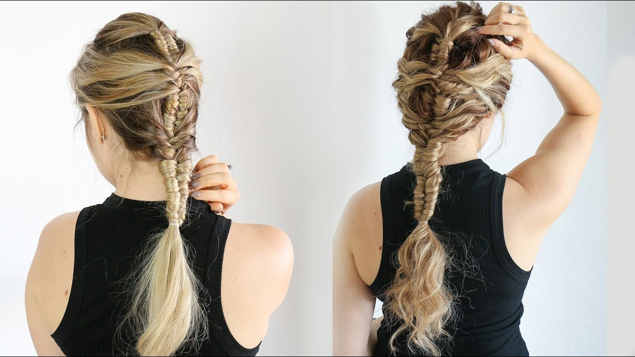 How To: Mermaid Infinity Braid (On Straight And Curly Hair!) – Kayleymelissa Intended For Most Up To Date Braided Mermaid Mohawk Hairstyles (View 15 of 20)