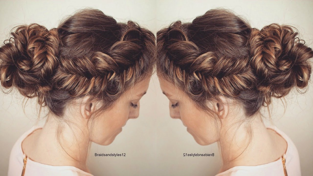 How To : Messy Fishtail Updo Hair Tutorial (View 8 of 20)
