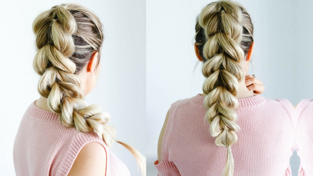 How To: Pull Through Braid – The Perfect Beginner Friendly Hairstyle Inside Most Current Pull Through Ponytail Updo Hairstyles (View 2 of 20)