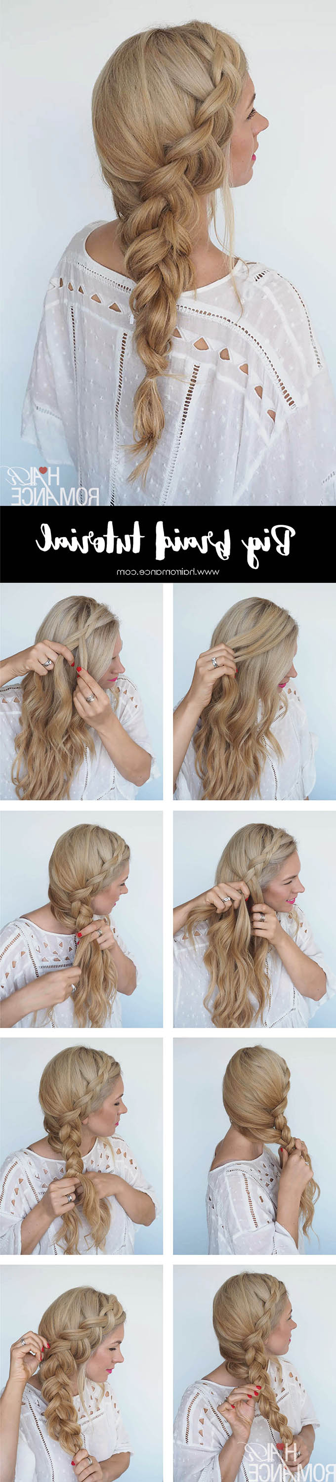 How To Style A Big Side Braid + Instant Mermaid Hair – Hair Inside Well Known Over The Shoulder Mermaid Braid Hairstyles (Gallery 3 of 20)