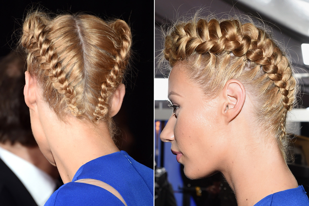 Iggy Azalea's Hair Stylist Wanted To Make A Statement With Regarding Well Known Angular Crown Braided Hairstyles (View 19 of 20)