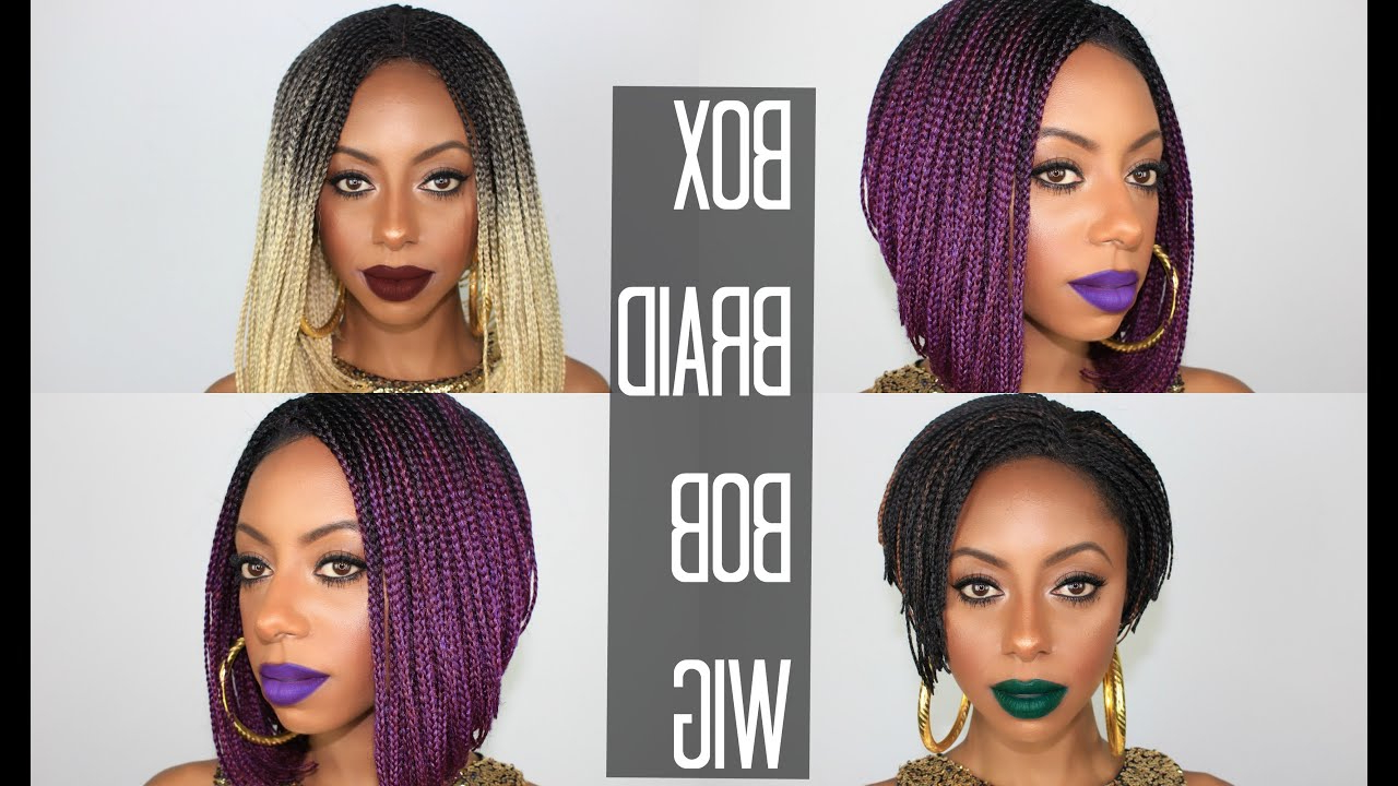 Featured Photo of Purple Pixies Bob Braid Hairstyles