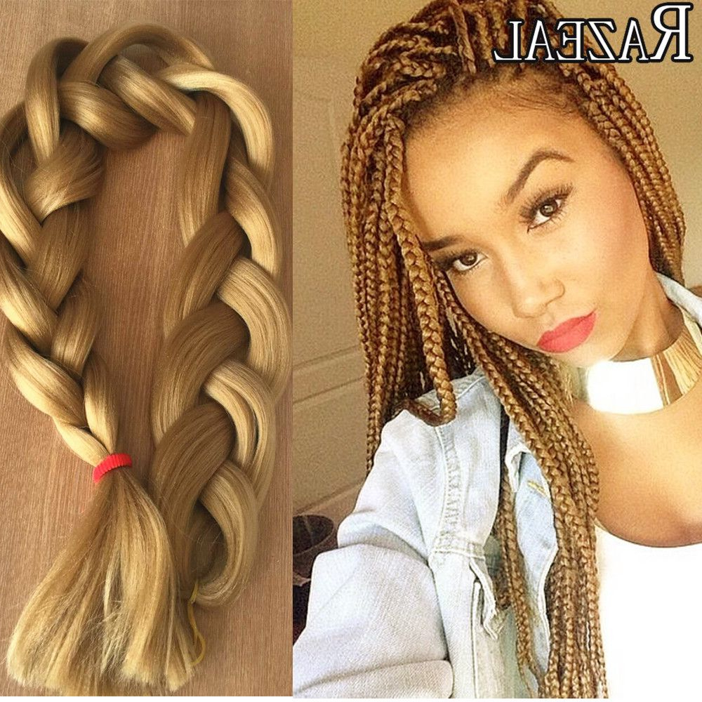 Jumbo Box Braid For Best And Newest Golden Blonde Tiny Braid Hairstyles (View 14 of 20)