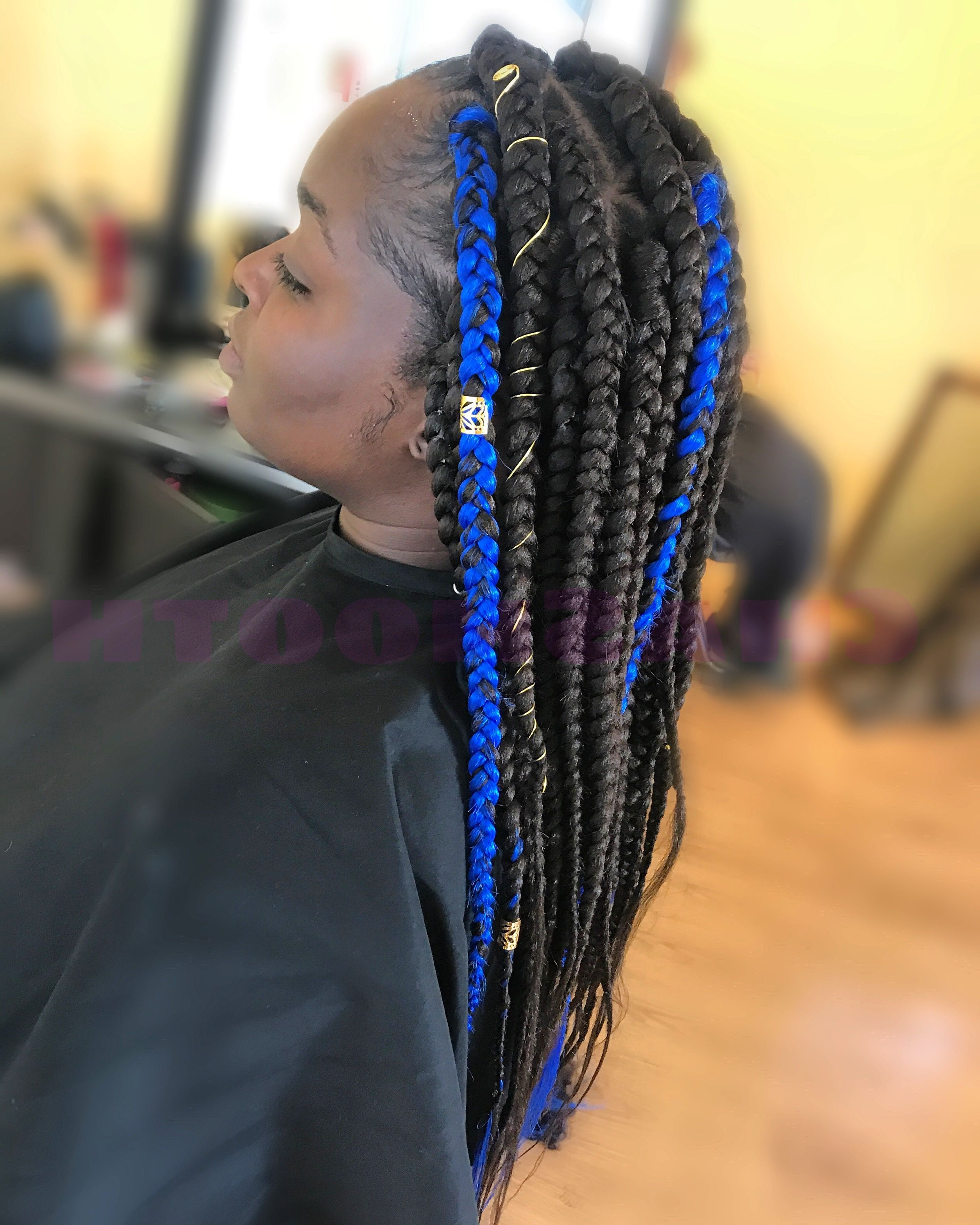 Jumbo Regarding 2019 Blue And Black Cornrows Braid Hairstyles (Gallery 5 of 20)