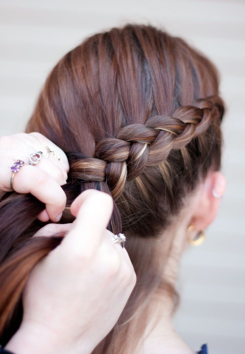 Katniss Braid, Corn Braid, Reverse French Braid, Whatever Inside Fashionable Reverse French Braid Bun Updo Hairstyles (Gallery 19 of 20)