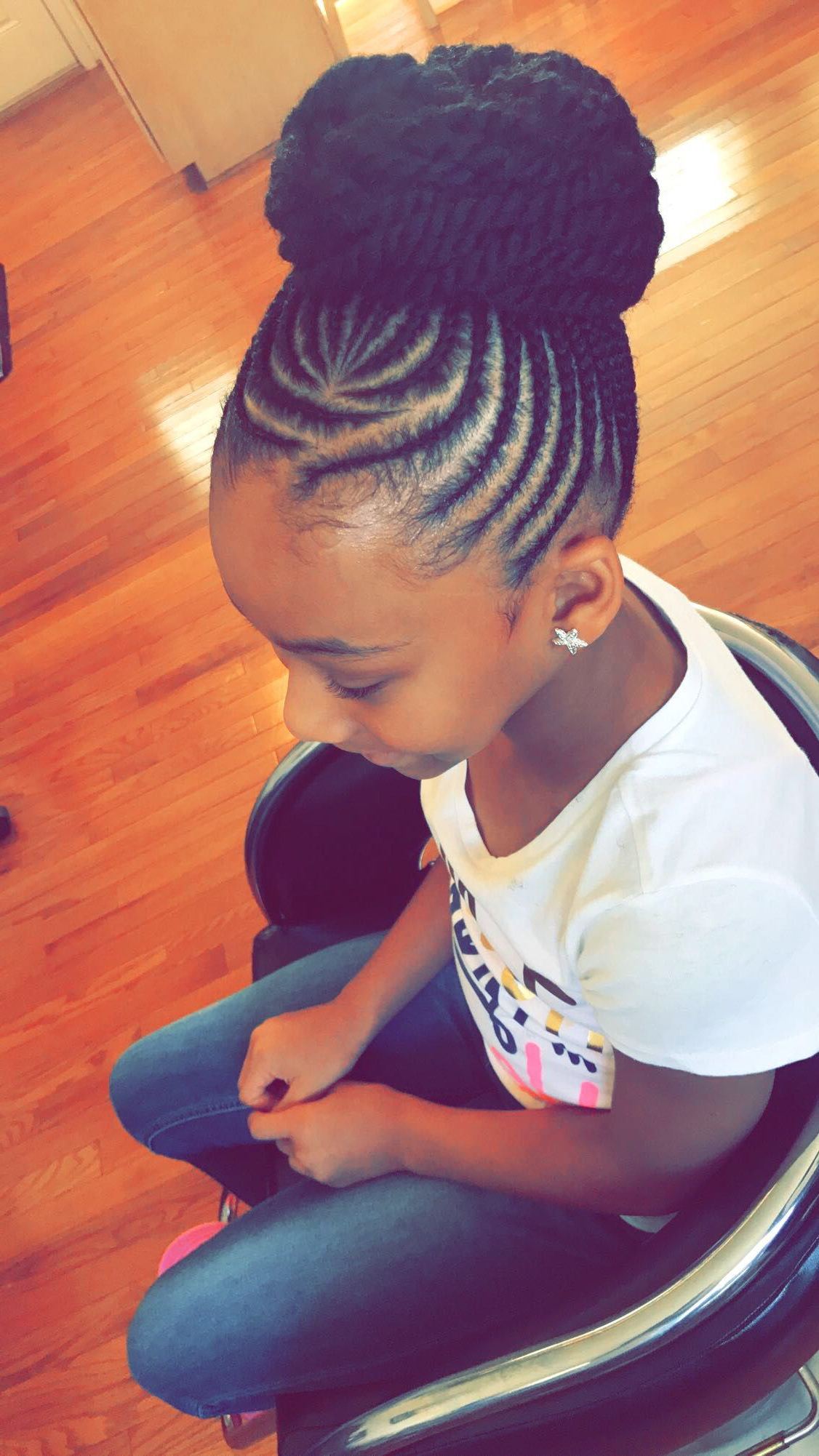 Kids Braided Hairstyles, Natural Hair Inside Trendy Lovely Black Braided Updo Hairstyles (View 12 of 20)