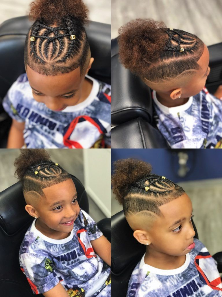 Kids Inside Fashionable Braided Topknot Hairstyles With Beads (View 9 of 20)