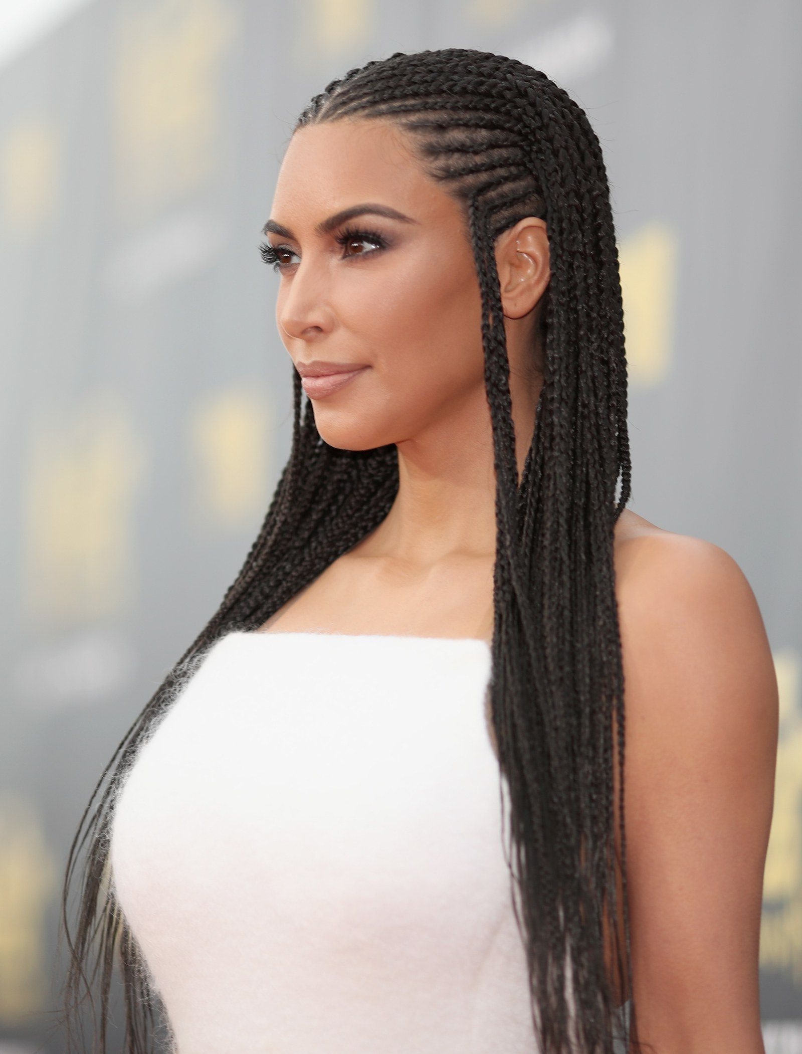 Kim Kardashian West Responds To The Backlash Over Her Braids In Most Current All Over Braided Hairstyles (View 6 of 20)