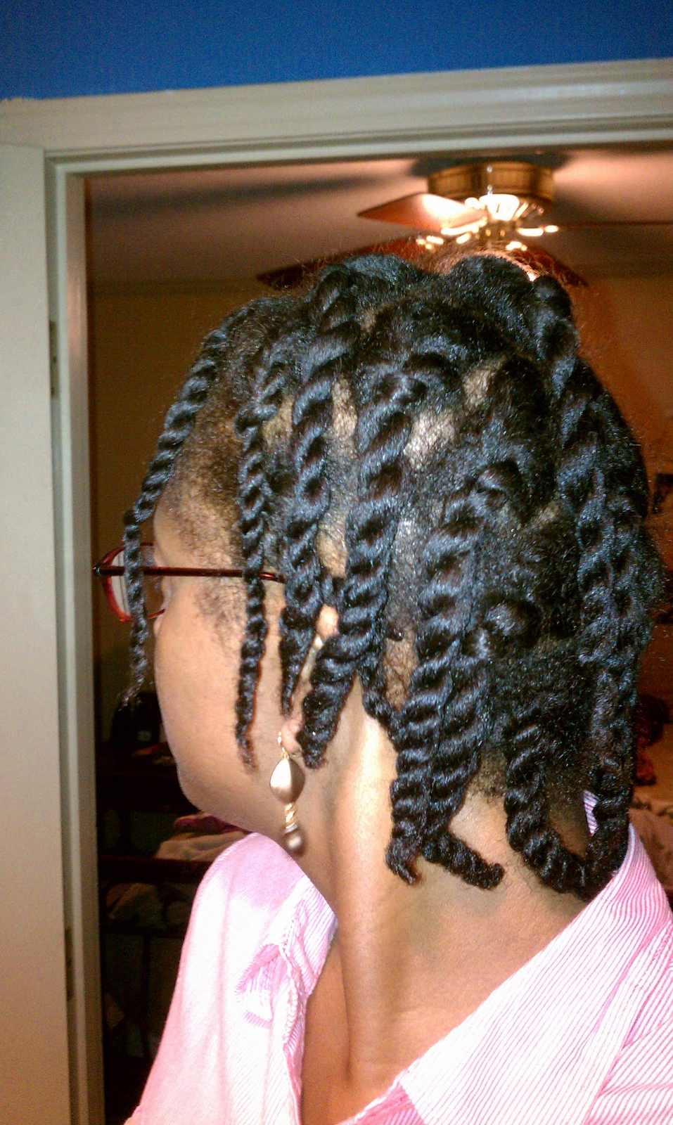 Kinky Haired Lady: Blow Dried Twist Out Throughout Newest Zebra Twists Micro Braid Hairstyles (Gallery 16 of 20)