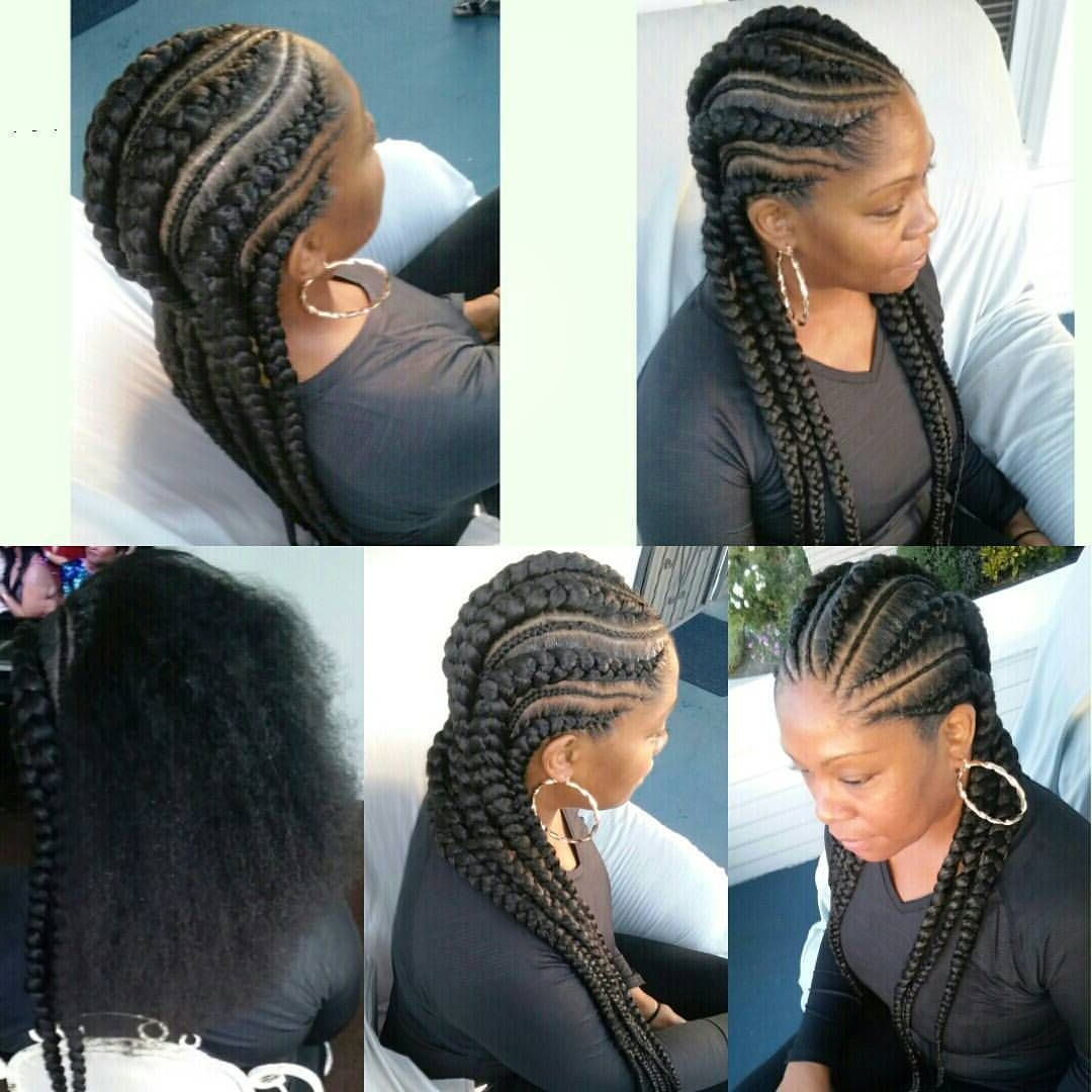 Featured Photo of Long And Big Cornrows Under Braid Hairstyles