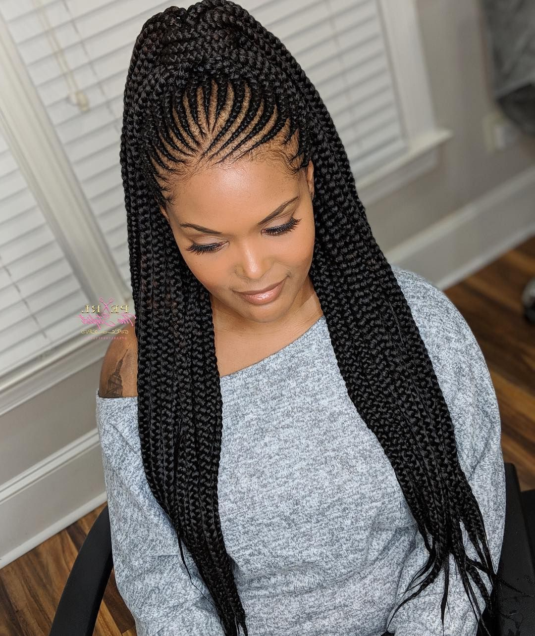 Ladies Waist Length Tribal Braids Can Be Worn Multiple Ways In Current Long Hairstyles With Multiple Braids (View 8 of 20)