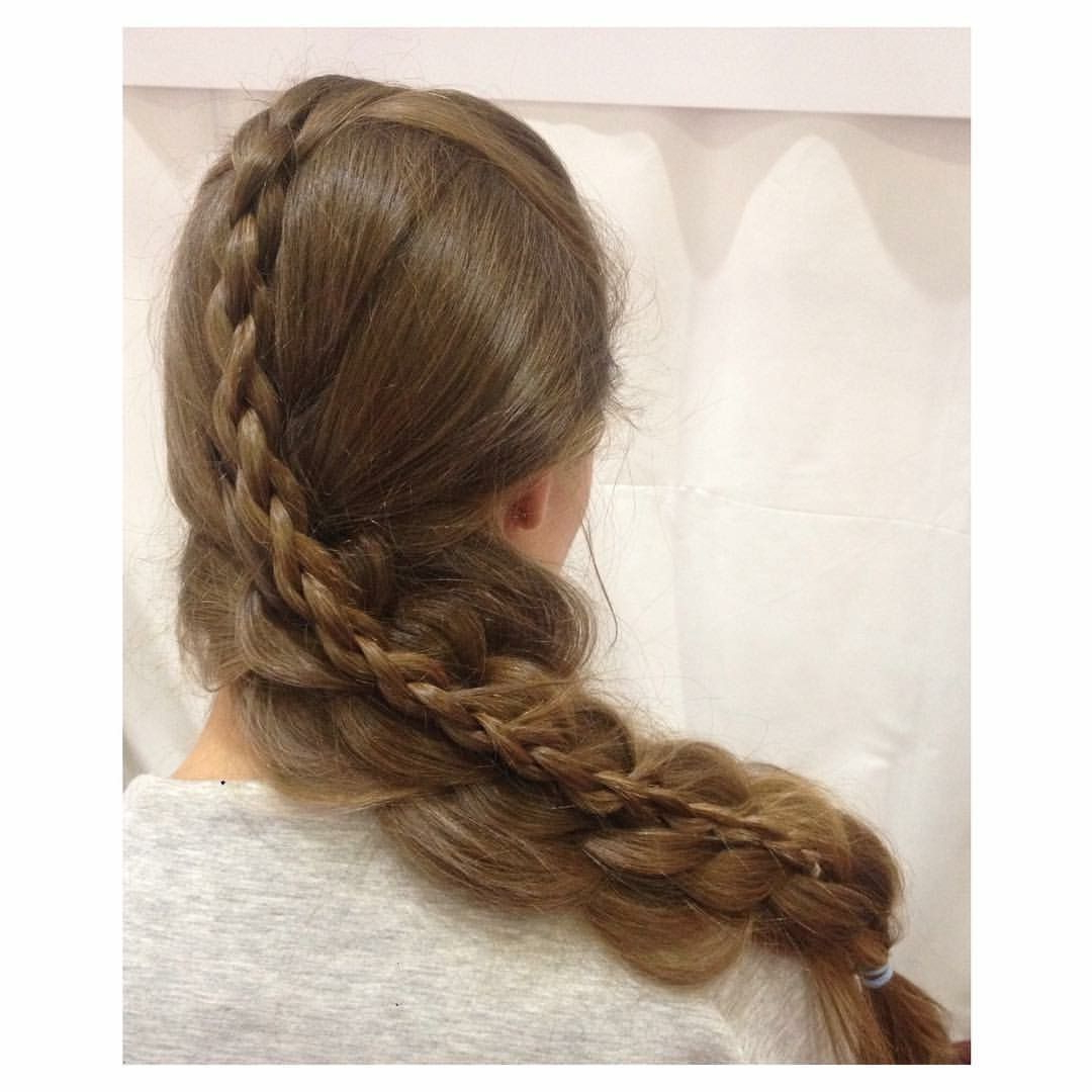 Latest 3D Mermaid Plait Braid Hairstyles Inside What Do You Think? Triple Stacked Dutch Braid With French (Gallery 10 of 20)
