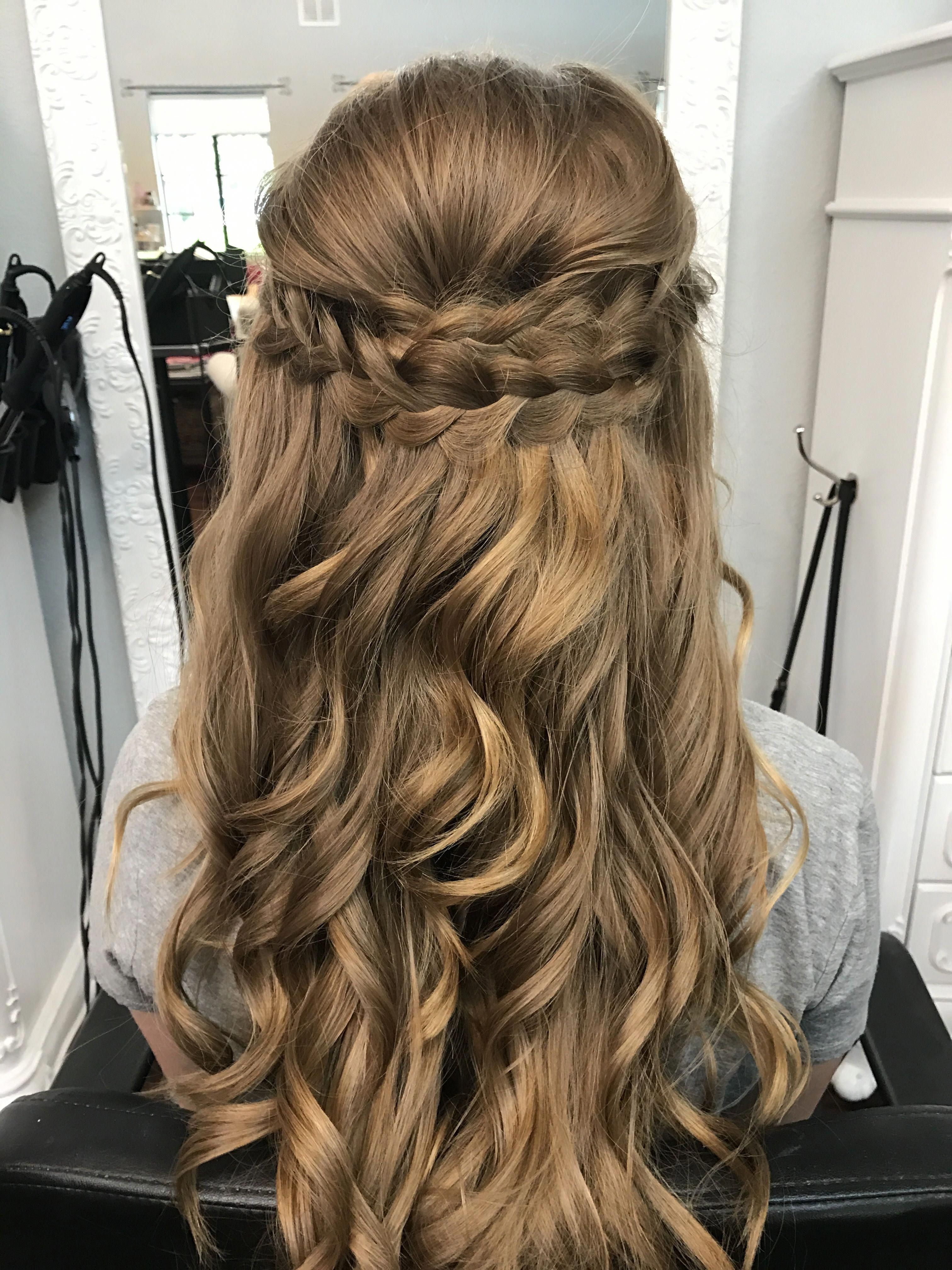 Latest Braided Half Up Hairstyles Regarding Hairstyles : Braided Half Up Down Prom Hair Then Hairstyles (View 10 of 20)