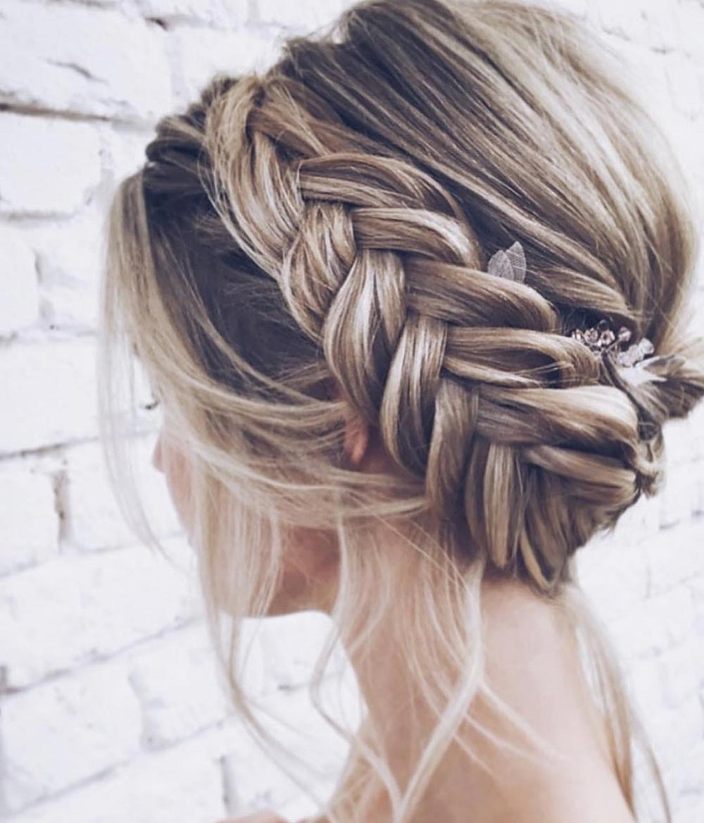 Latest Brown Woven Updo Braid Hairstyles With Regard To 28 Braided Wedding Hairstyles For Long Hair ⋆ Ruffled (View 10 of 20)