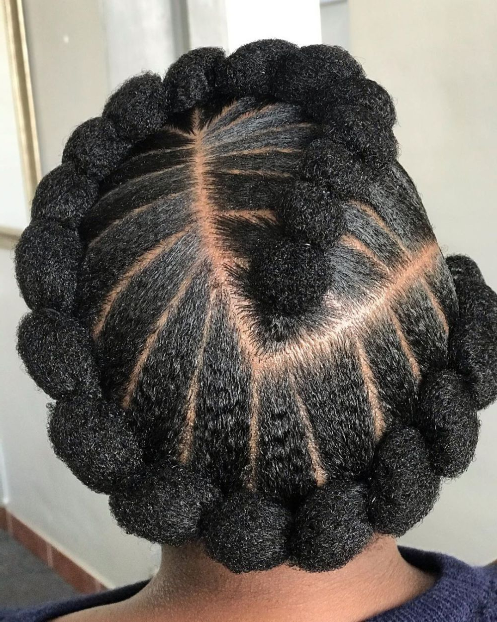 Latest Bubble Braid Updo Hairstyles Pertaining To Bubble Braid Updo For Natural Hair (View 12 of 20)