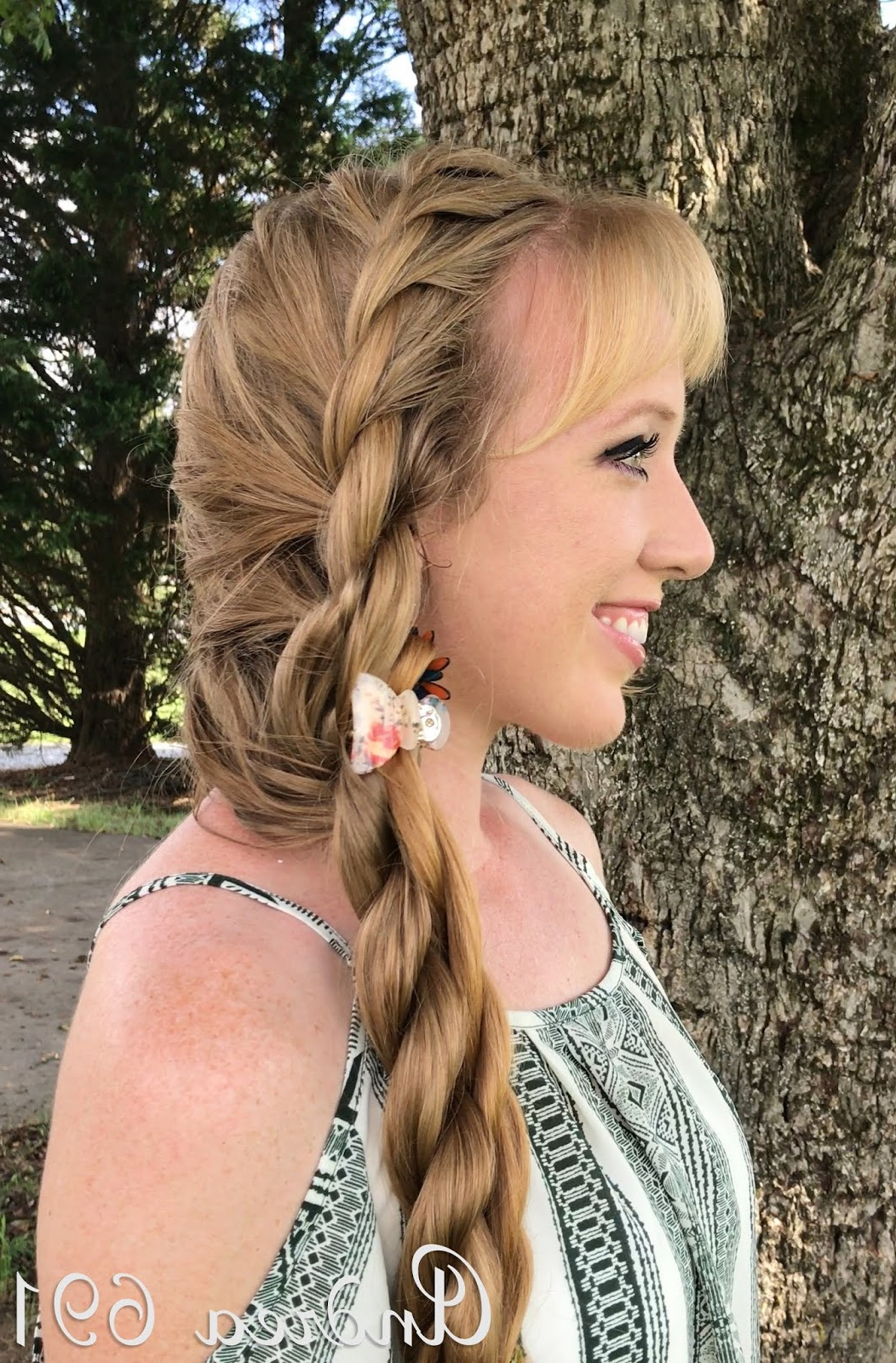 Latest Double Rapunzel Side Rope Braid Hairstyles Throughout Braids & Hairstyles For Super Long Hair: Side Rope Braid (Gallery 15 of 20)