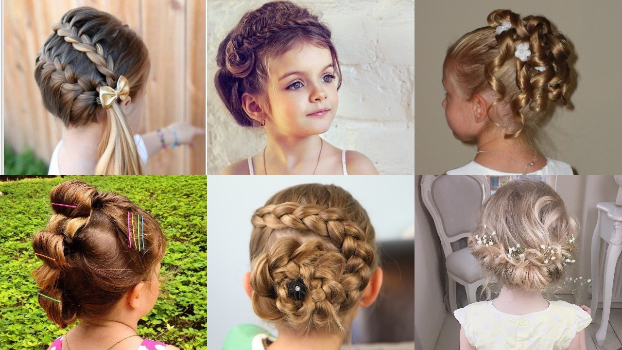 Latest Funky Sock Bun Micro Braid Hairstyles In 25 Cute And Charming Little Girl Updos – Haircuts (View 4 of 20)
