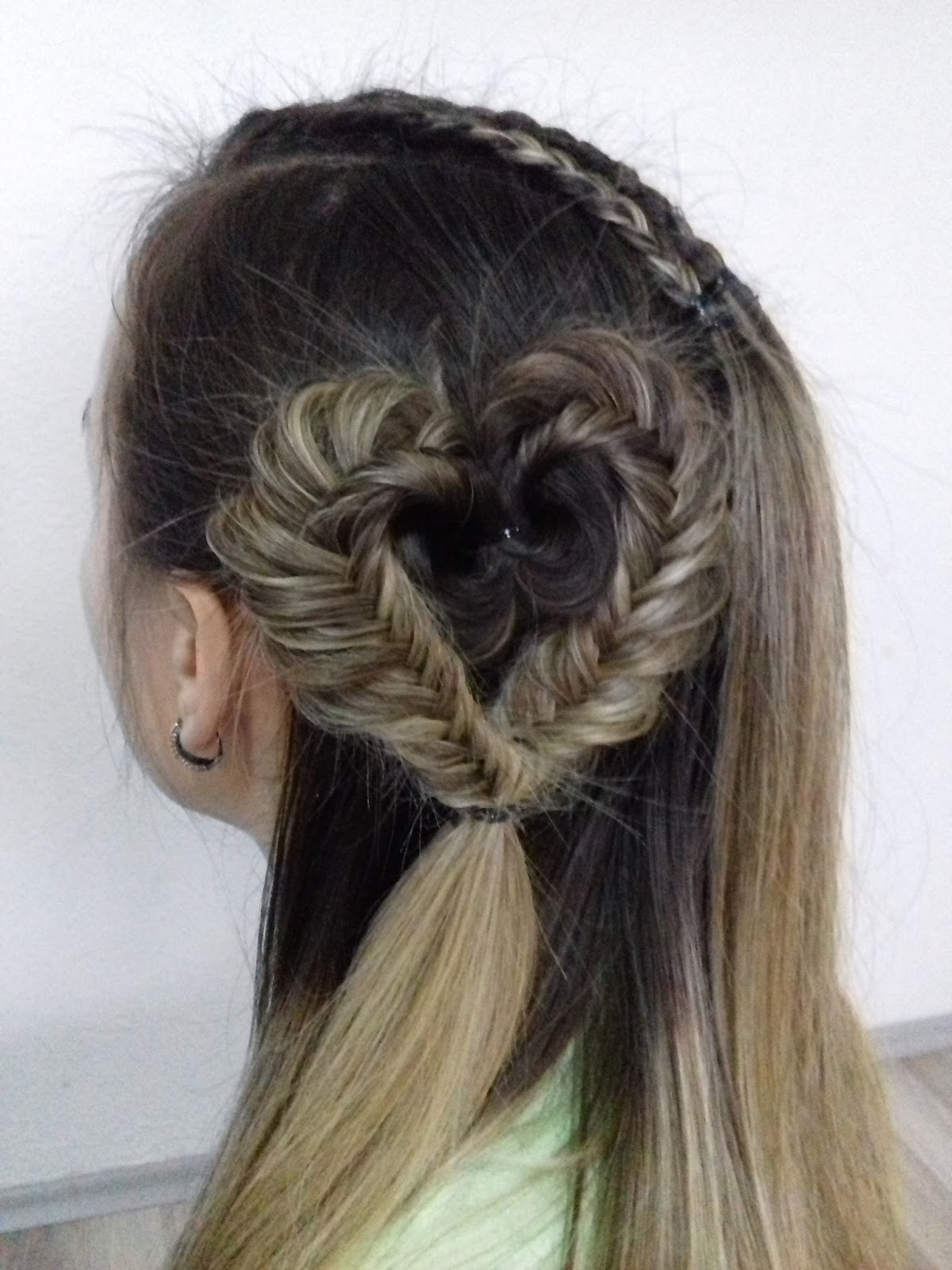 Latest Heart Shaped Fishtail Under Braid Hairstyles Inside Fashionable Hair Braids: Heart Braided Hairstyles (View 16 of 20)