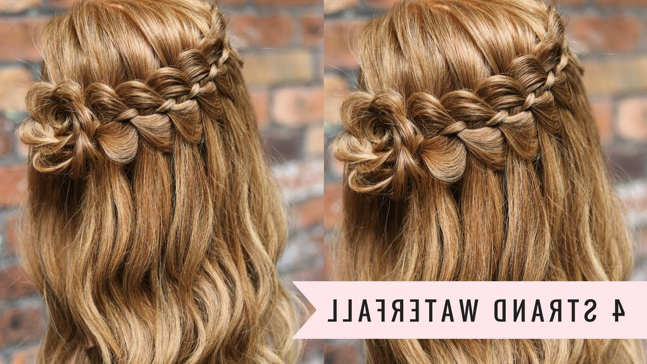 Latest High Waterfall Braided Hairstyles With Four Strand Waterfall Braidsweethearts Hair (View 14 of 20)