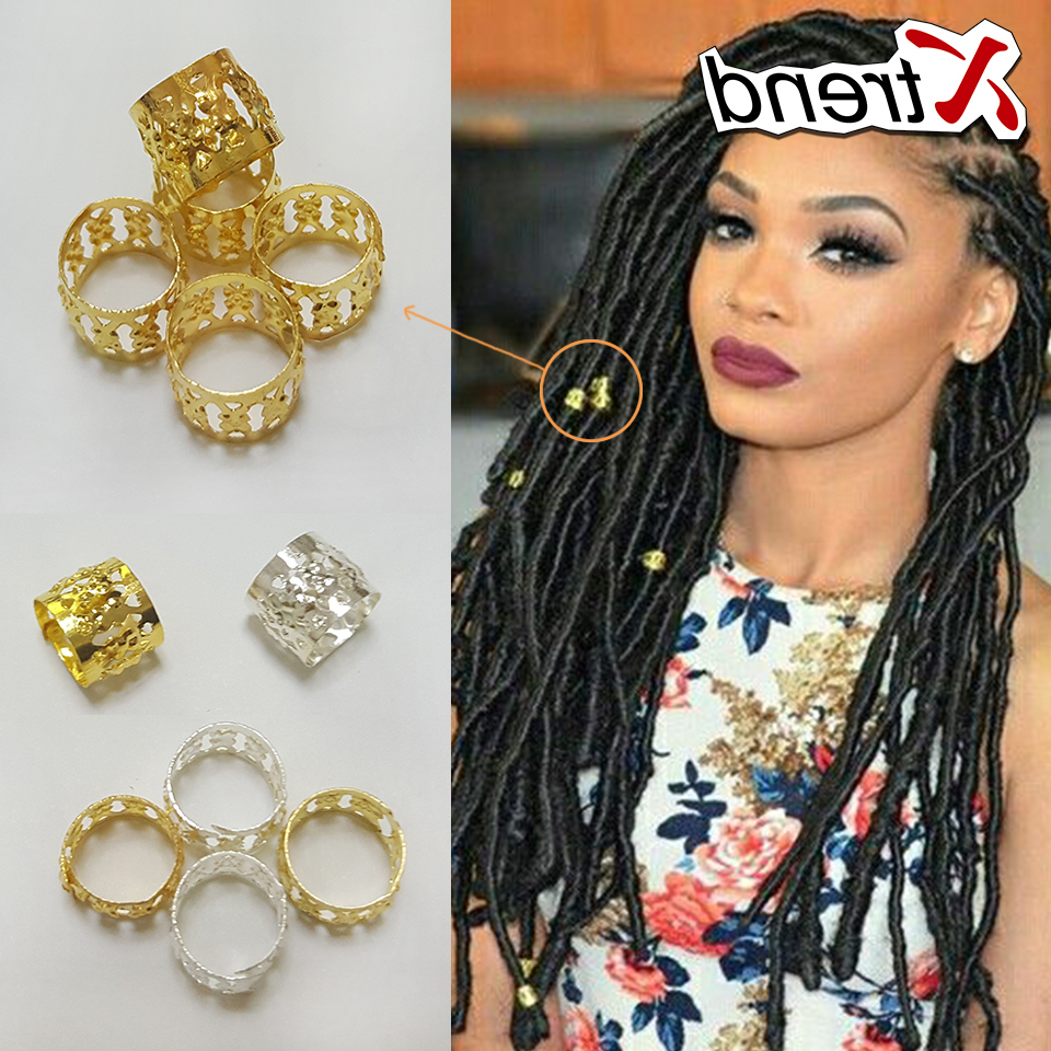[%Latest Kanekalon Braids With Golden Beads Inside Us $9.28 45% Off|500Pcs/lot Mix Silver Golden Plated Hair Braid Dread Dreadlock Beads Adjustable Cuff Clip 8Mm Clip Metal Tube Lock In Links, Rings &|Us $ (View 10 of 20)