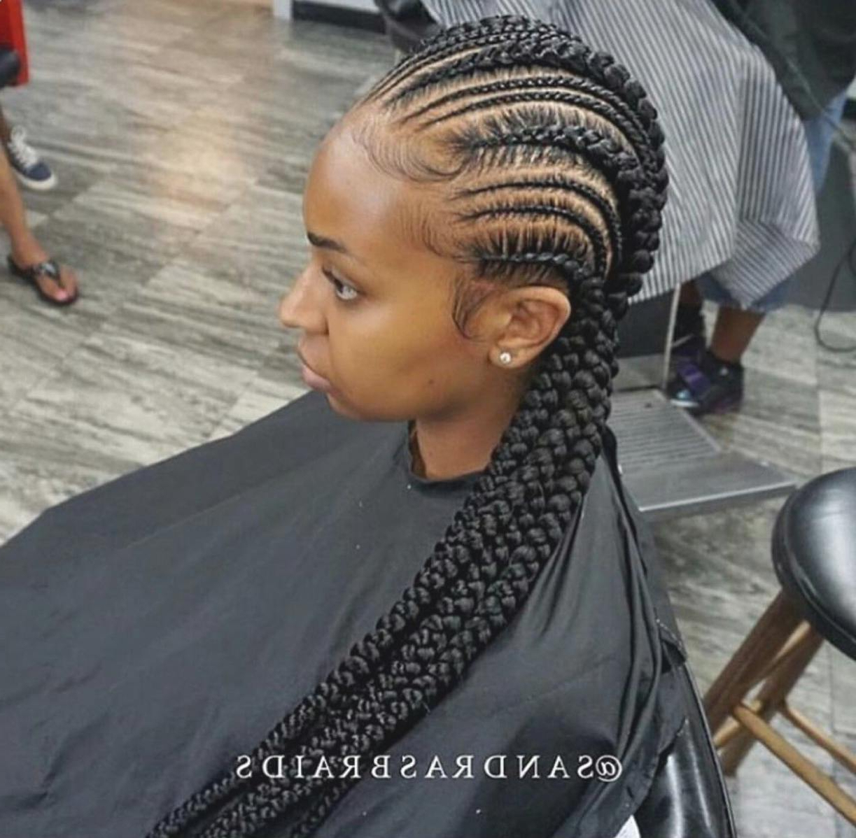 Latest Long And Big Cornrows Under Braid Hairstyles Pertaining To Beautiful Big Cornrows Hairstyles Image Of Braided (View 7 of 20)