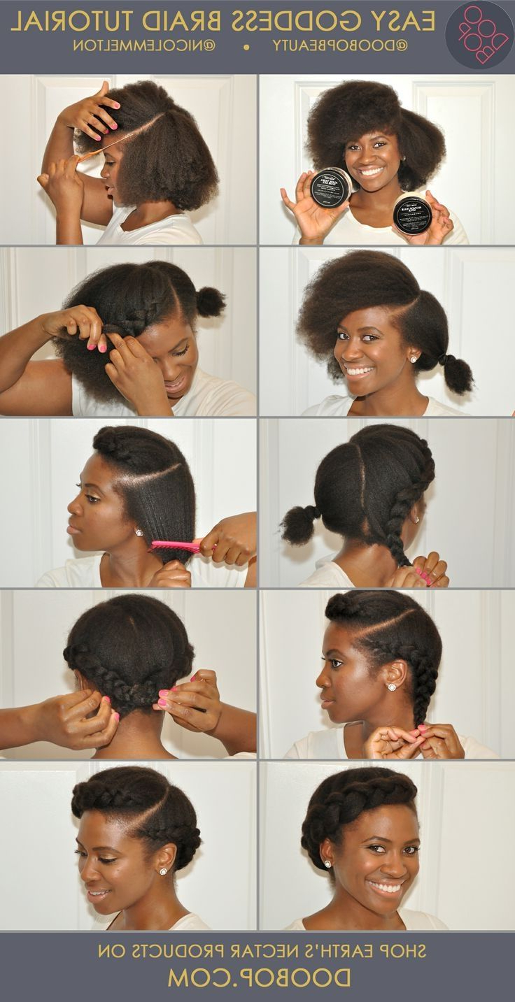 Latest No Pin Halo Braided Hairstyles In Pinmrs Haywood On Natural / Protective Hairstyles (View 11 of 20)