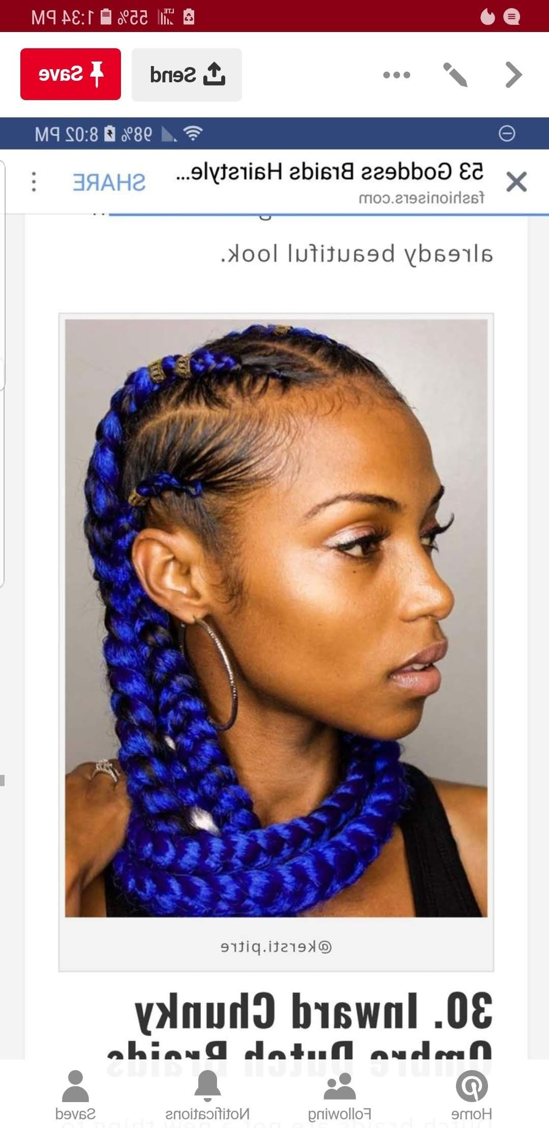 Latest Red Inward Under Braid Hairstyles Within Pinamy Batiste On Braid Styles In (View 15 of 20)