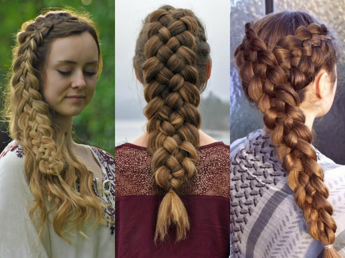 Latest Three Strand Side Braided Hairstyles Within Adorable 5 Strand Braid Hairstyles In Easy Way (View 12 of 20)