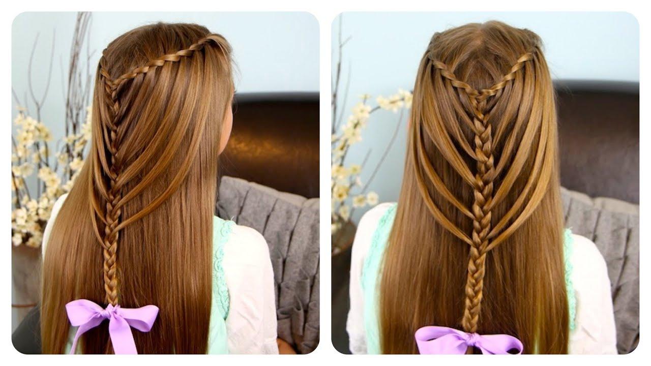 Latest Waterfall Mermaid Braid Hairstyles Regarding Waterfall Twists Into Mermaid Braid (View 11 of 20)