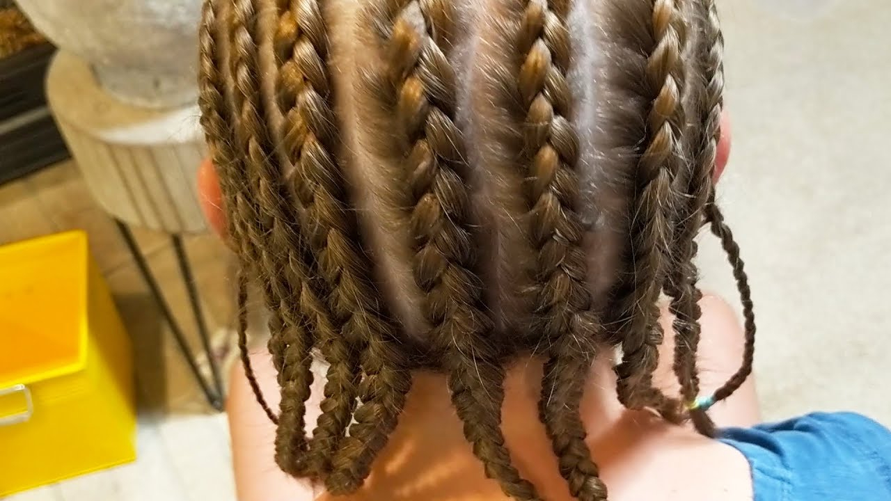 Lds Girls Camp Hairstyle: How To Do Corn Row Braids From Multiple Angles For Well Liked Long Hairstyles With Multiple Braids (View 9 of 20)