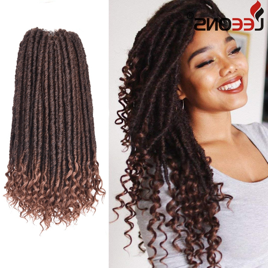 Leeons Black/blonde 16 Inch Kanekalon Braiding Hair Faux Locs Crochet Hair Goddess Hairstyles Synthetic Braiding Hair Extensions On With Regard To Well Known Blonde Braid Hairstyles (View 18 of 20)