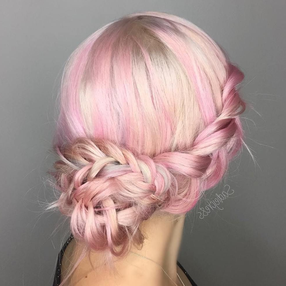 Long Hair Styles With Most Recent Pastel Colored Updo Hairstyles With Rope Twist (Gallery 16 of 20)