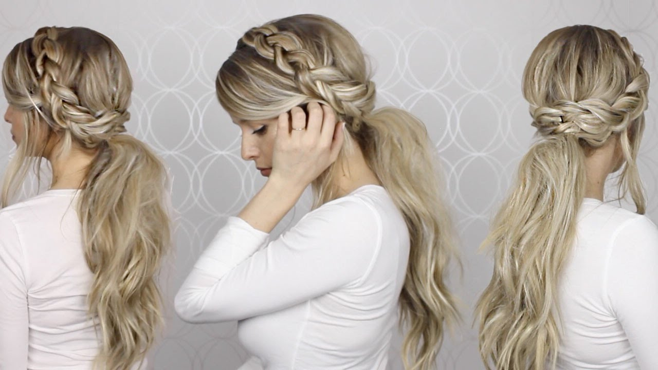 Long Medium Hair In 2019 Side Ponytail Prom Hairstyles (View 7 of 20)
