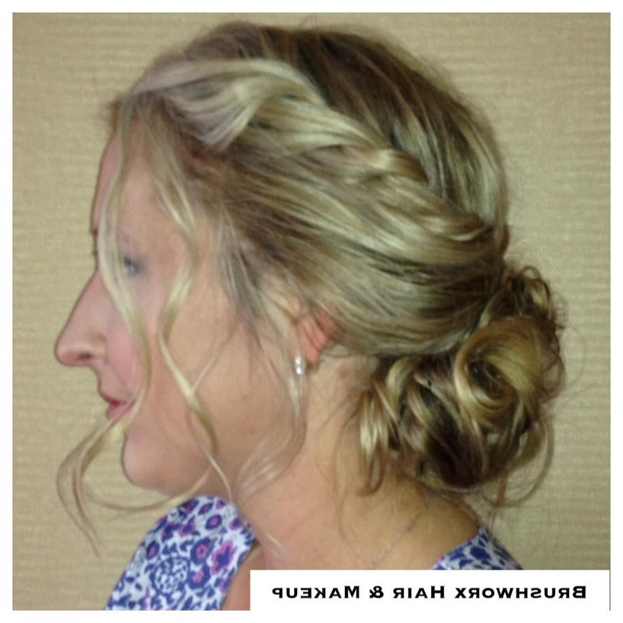 Low Chignon; Undone Updo; Twist Braid; Tendrils; Soft Within Most Recently Released Halo Braided Hairstyles With Long Tendrils (View 16 of 20)
