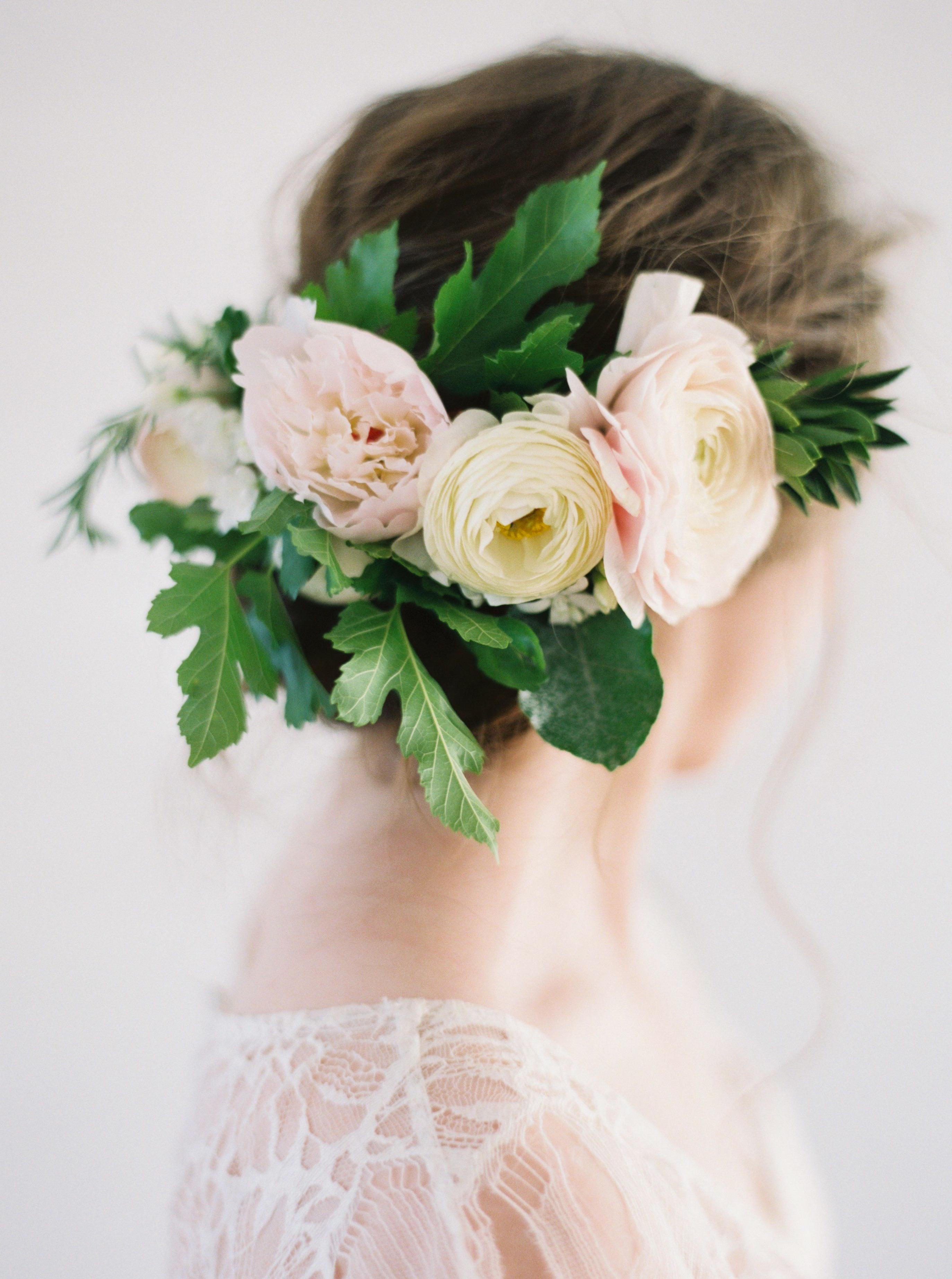 Lush + Romantic Floral Inspiration From Bows And Arrows For Most Up To Date Romantic Florals Updo Hairstyles (View 16 of 20)