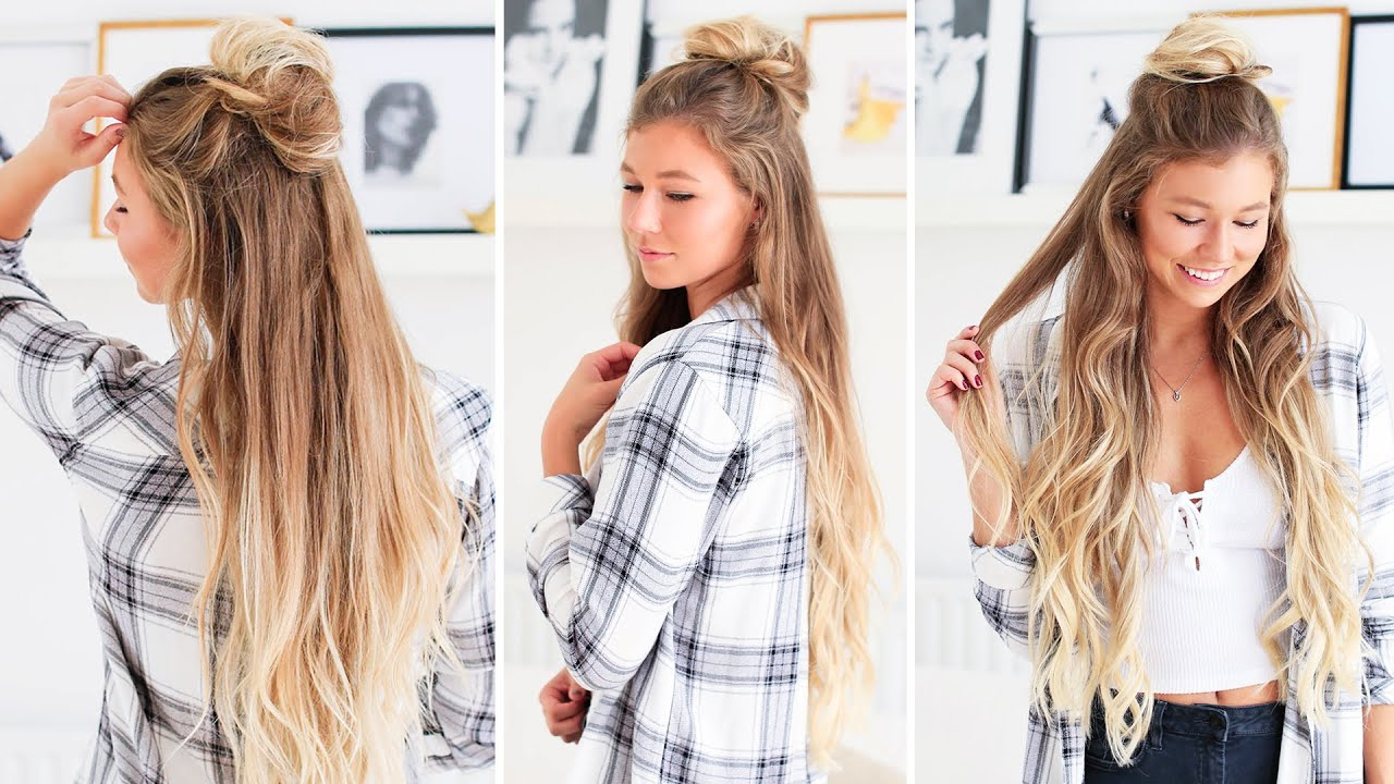 Featured Photo of Simple Half Bun Hairstyles