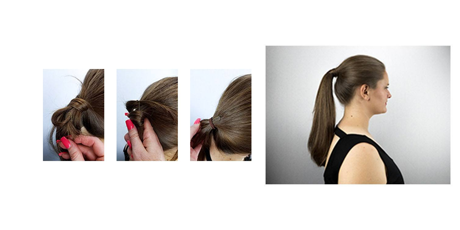Matrix For Latest Wrapped Ponytail Hairstyles (View 9 of 20)