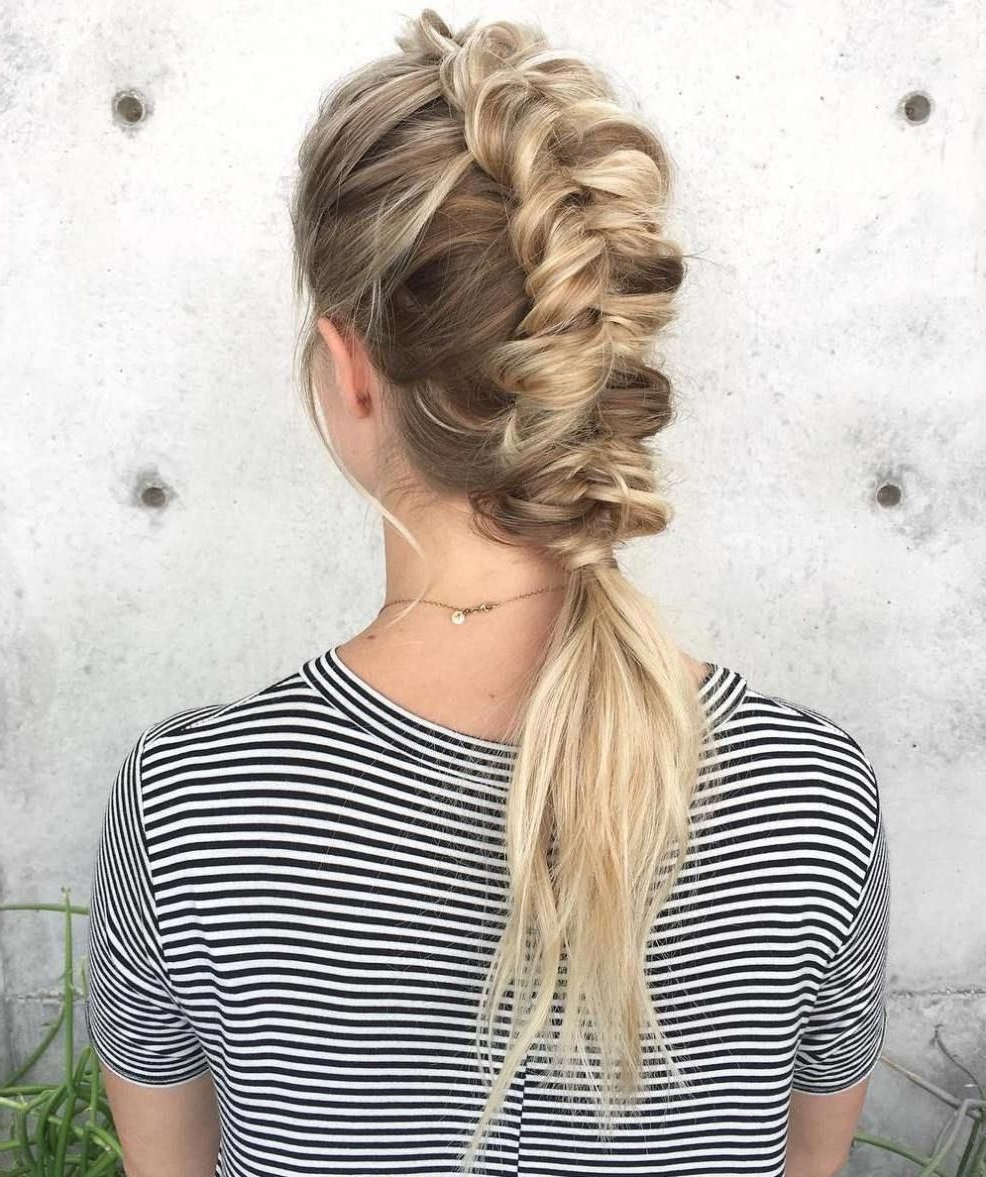 Mermaid Braids Throughout Trendy Braided Mermaid Mohawk Hairstyles (View 4 of 20)