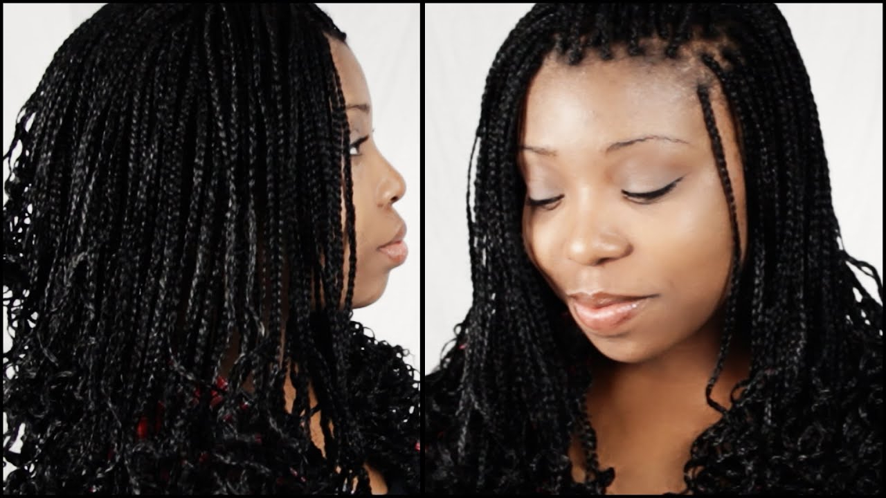 Micro Braid Hairstyles Start To Finish In 5 Minutes!!! Within Current Twists Micro Braid Hairstyles With Curls (View 14 of 20)