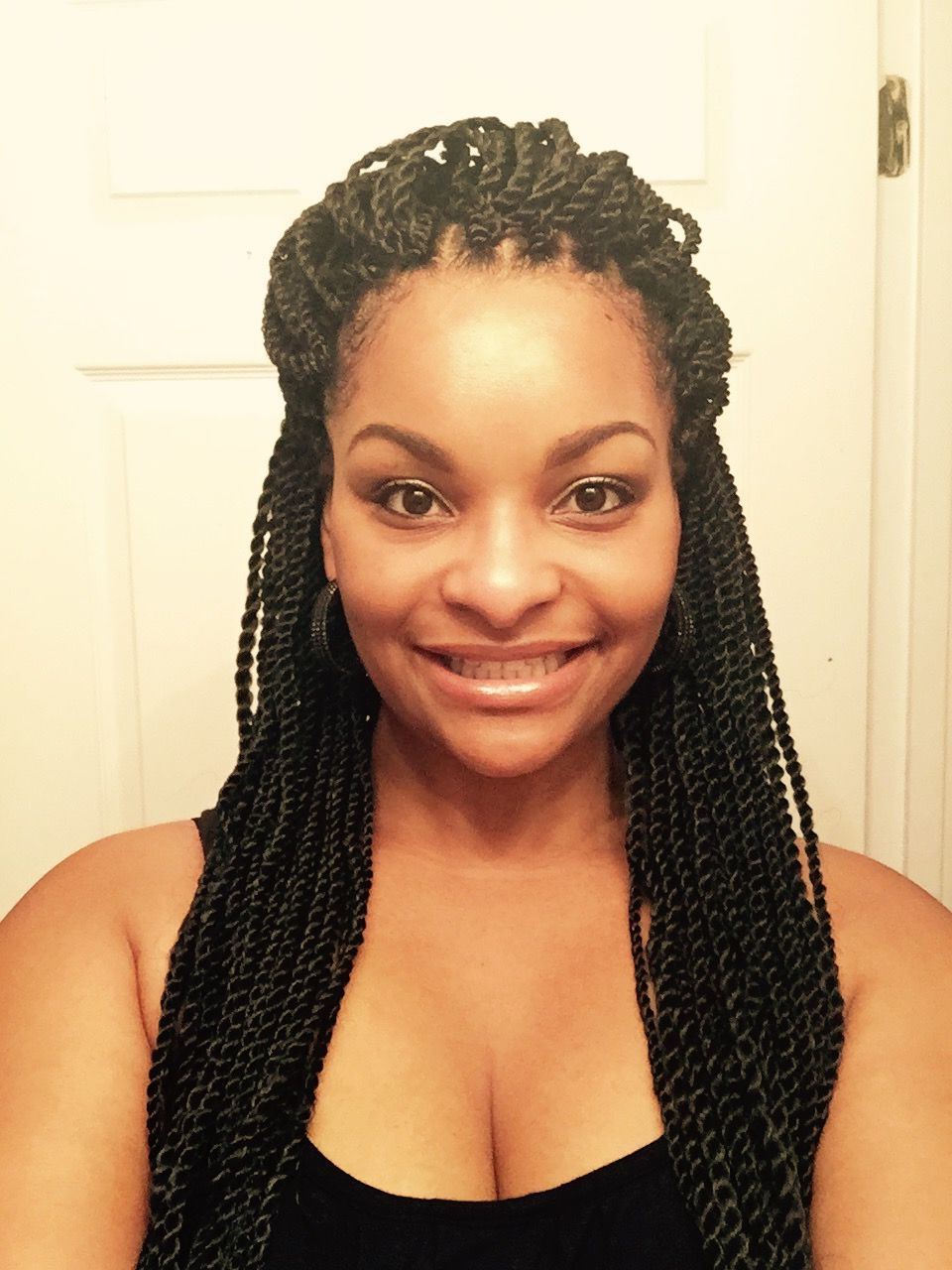 Featured Photo of Twists Micro Braid Hairstyles With Curls