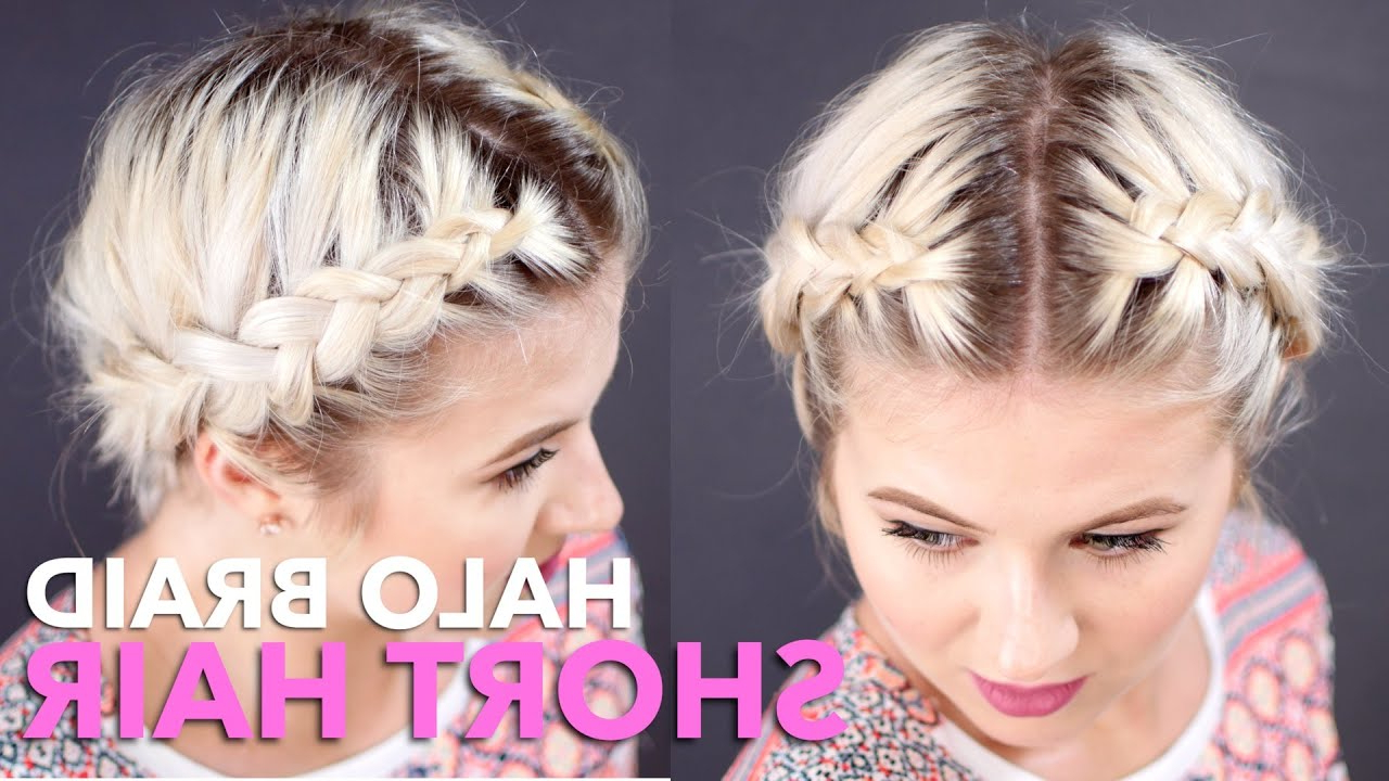 Milabu Inside Recent Halo Braided Hairstyles With Bangs (View 14 of 20)