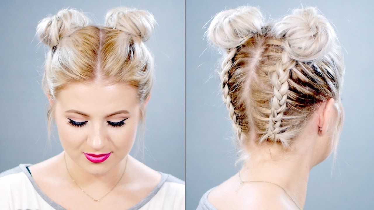 Milabu With Regard To Well Known Braided Space Buns Updo Hairstyles (View 7 of 20)