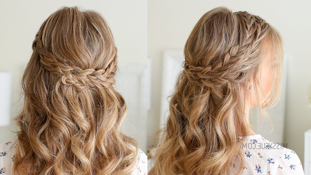 Featured Photo of Partial Updo Rope Braids With Small Twists