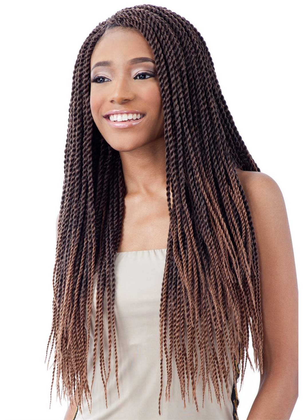 Model Model Glance Crochet Braid Senegalese Twist Small With Fashionable Straight Mini Braids With Ombre (View 13 of 20)