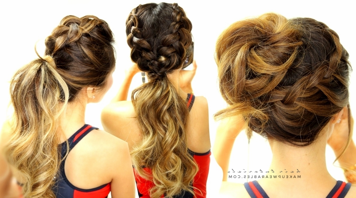 Mohawk Braid + Messy Bun Within 2019 Braided Ponytails Updo Hairstyles (View 15 of 20)