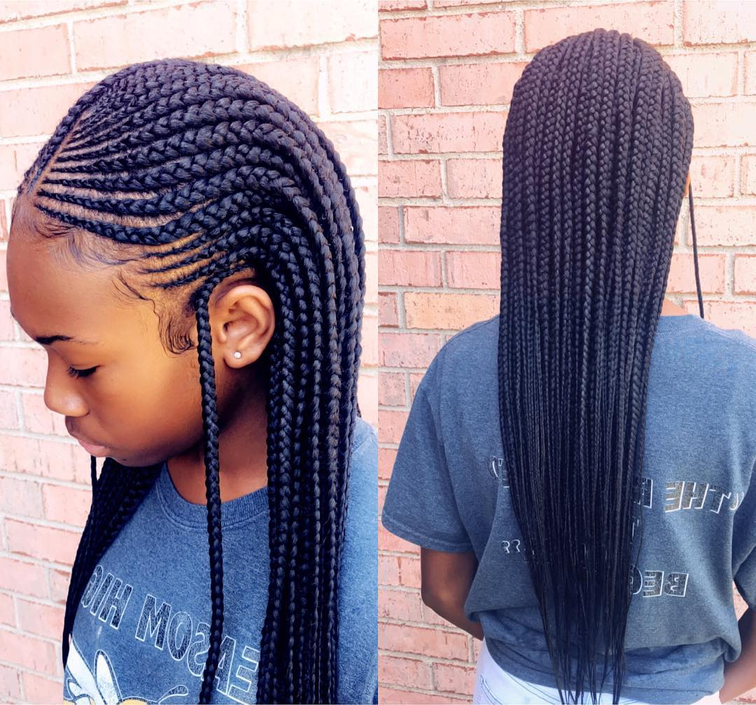 Most Current Blue Sunset Skinny Braided Hairstyles Inside 96 Tree Braid Hairstyles That Will Get You Back To Nature (View 13 of 20)