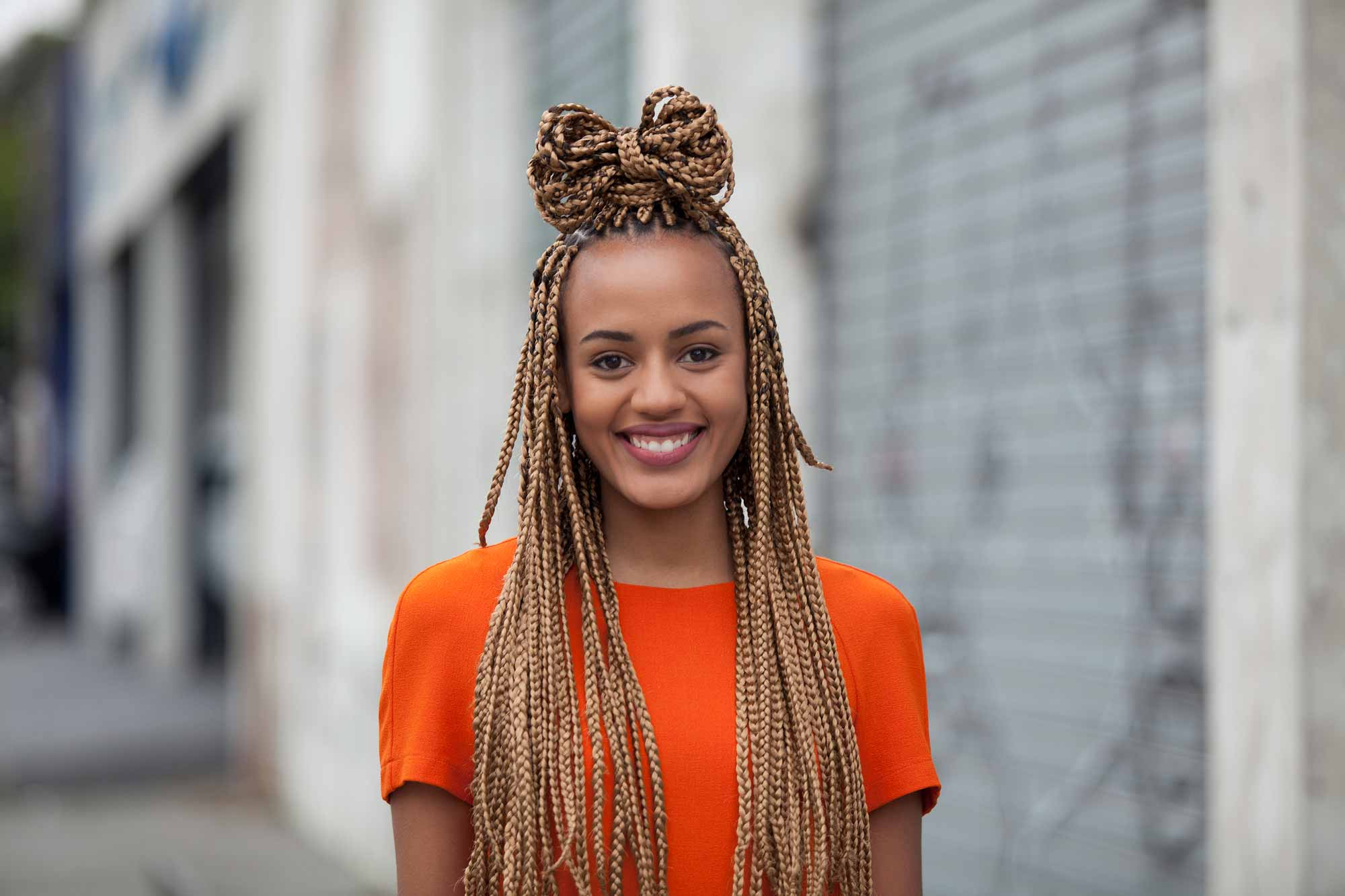Most Current Box Braided Bun Hairstyles Inside 10 Super Cute Styles With Box Braids To Wear Now (View 20 of 20)