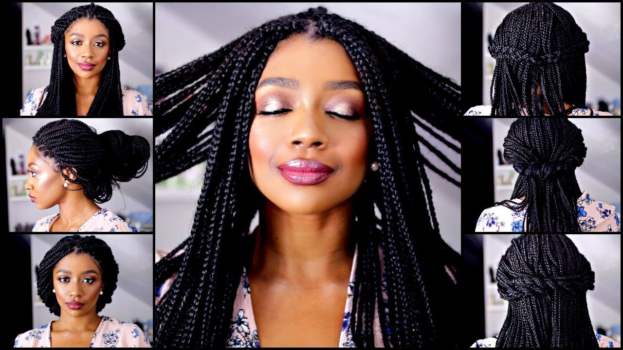 Most Current Box Braided Bun Hairstyles With 10 Quick And Easy Box Braid Hairstyles (View 18 of 20)
