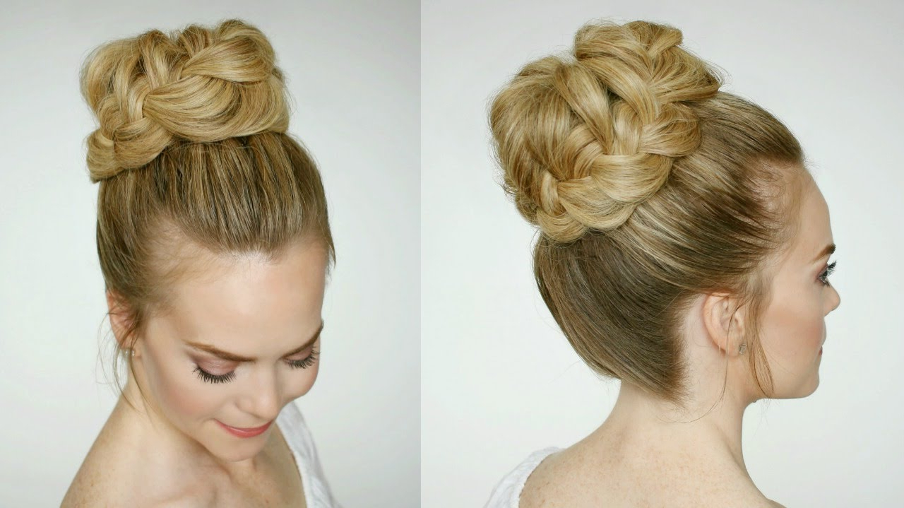 Most Current Braid Wrapped High Bun Hairstyles Within French Braid High Bun (View 17 of 20)