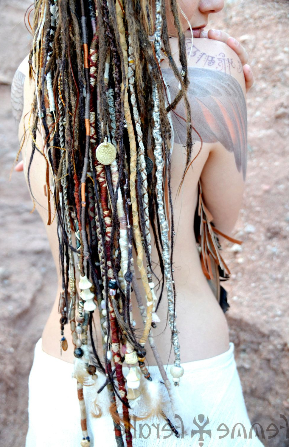 Most Current Braided Hairstyles With Beads And Wraps Within Medicine Woman Bohemian Hair Wraps Temporaryfemmeferalle (View 11 of 20)